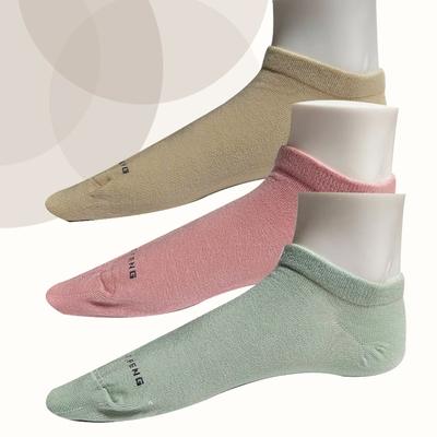 本之豐 冷淡彩度精梳棉抗菌消臭腳趾無縫縫合船襪 ~ 12雙