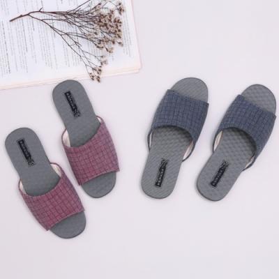 維諾妮卡 方格竹炭機能乳膠室內拖鞋