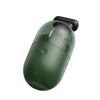 Baseus倍思 桌面膠囊隨身吸塵器 附長刷頭 (墨色綠) USB充電 輕巧無線 台灣公司貨