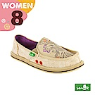 SANUK 女款US8 趣味塗鴉懶人鞋(米色)