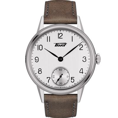 TISSOT Heritage小秒針手上鍊機械錶(T1194051603701)42mm