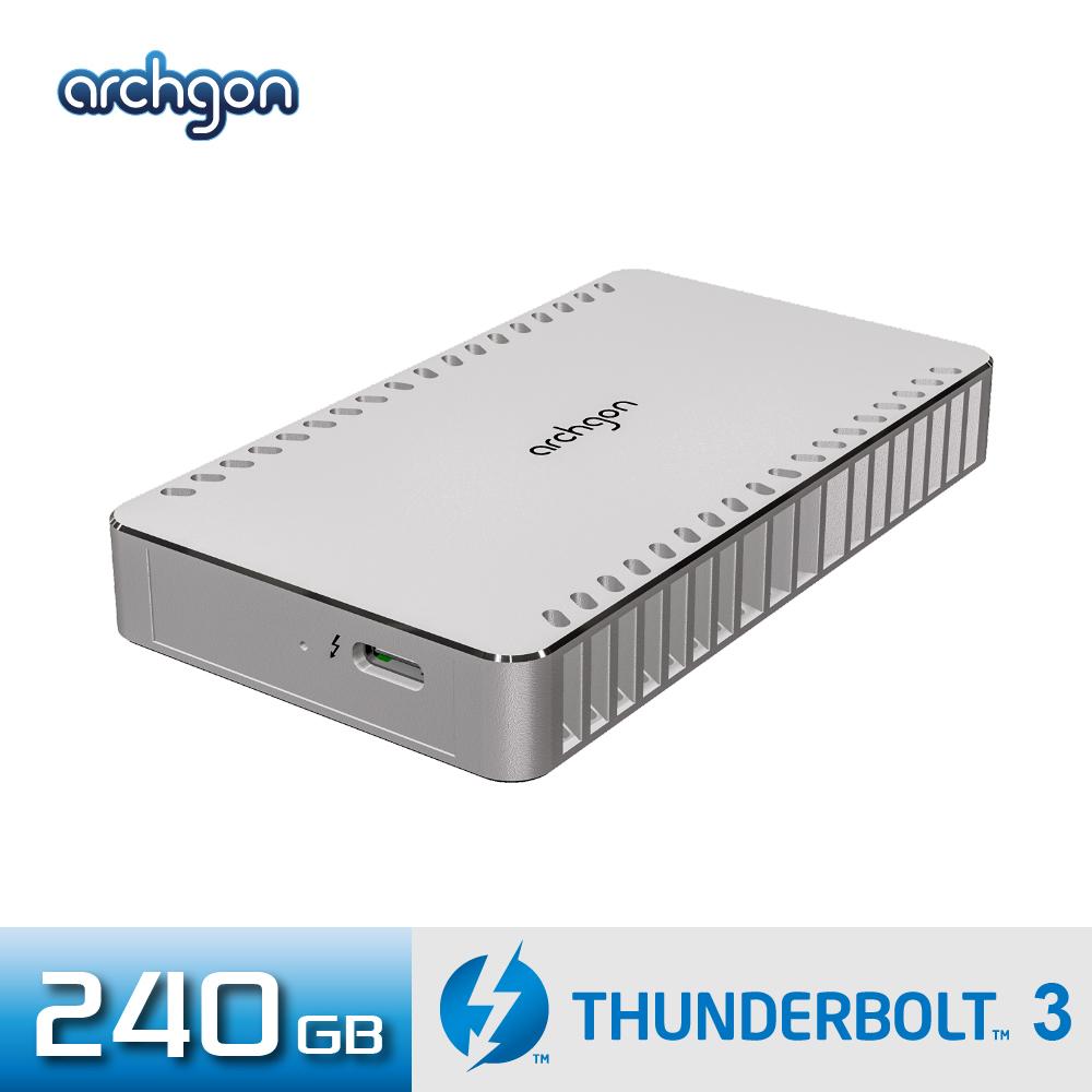 Archgon X70 外接式固態硬碟 Thunderbolt 3-240GB -鑽石銀
