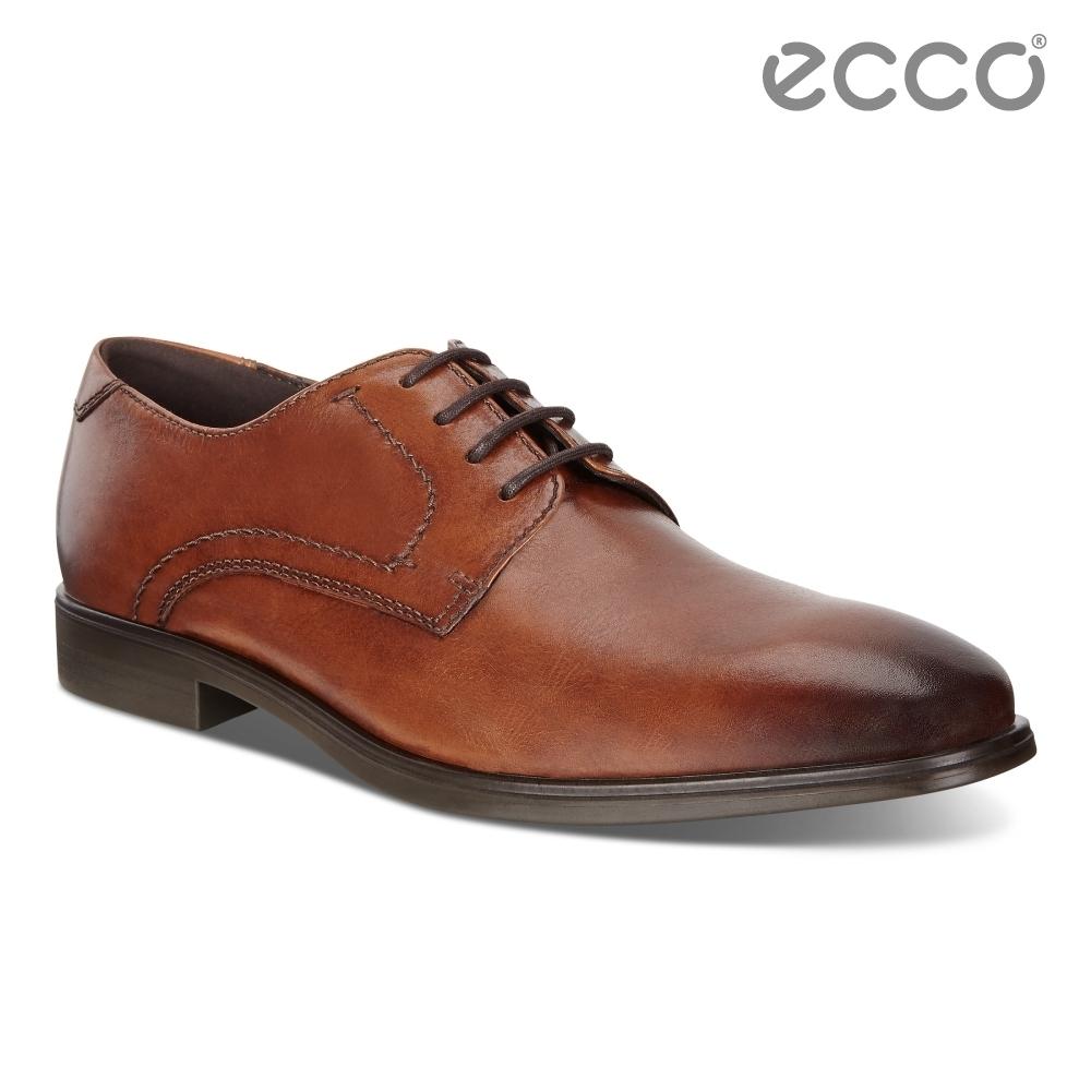 ECCO MELBOURNE 現代風格商務正裝德比鞋 男鞋-褐色