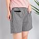 【白鵝buyer】 韓國製黑白格休閒口袋短褲-粗格