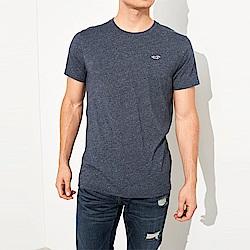 海鷗 Hollister HCO 經典刺繡標誌素面短袖T恤-藍色