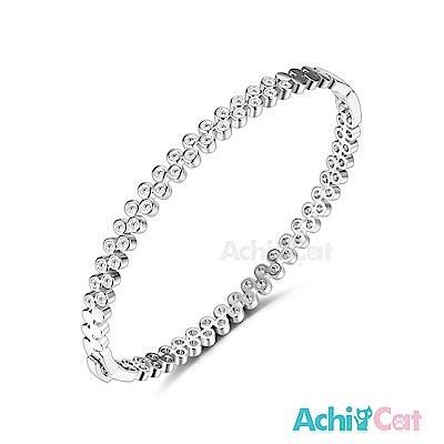 AchiCat 白K手環 幸福串連 (銀色)