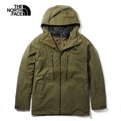 The North Face北面男款綠色三合一外套|3LZ137U