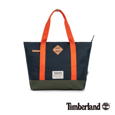 Timberland 中性深寶石藍色拼色小款托特包|A2FNG