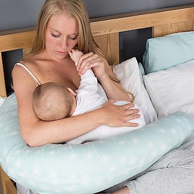 英國CuddleCo 彎月型竹纖維孕婦側睡枕-薄荷點點