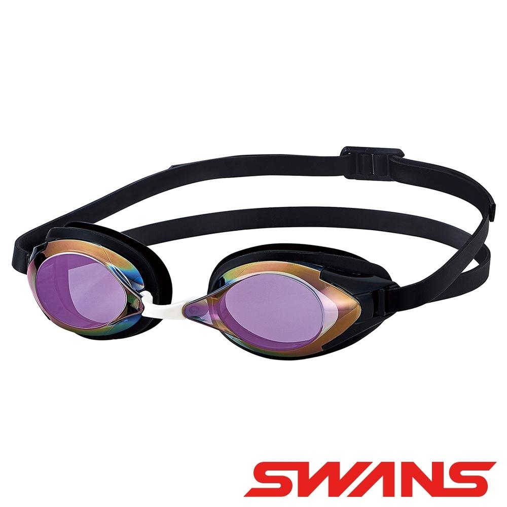 【SWANS 日本】光學通用型泳鏡(防霧/抗UV/矽膠/偏光功能 SR-2M黑)