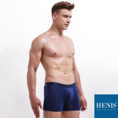 HENIS FORCE磁石原力 透氣機能 能量四角褲 (寶藍)