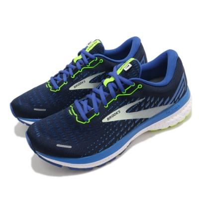 Brooks 慢跑鞋 Ghost 13 運動 男鞋 路跑 緩震 DNA科技 透氣 健身 球鞋 藍 黃 1103481D474