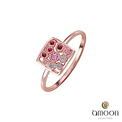 amoon 璀璨星空系列 幻影 K金寶石戒指-紅寶石款