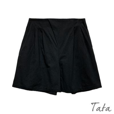 寬鬆抓褶素色短褲 共二色 TATA-(M~XL)