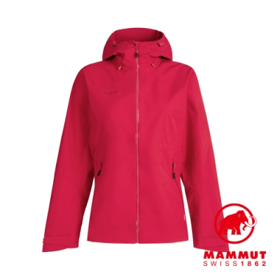 【Mammut 長毛象】Convey Tour HS Hooded Jacket GTX 防水連帽外套 夕陽紅 女款 #1010-27850