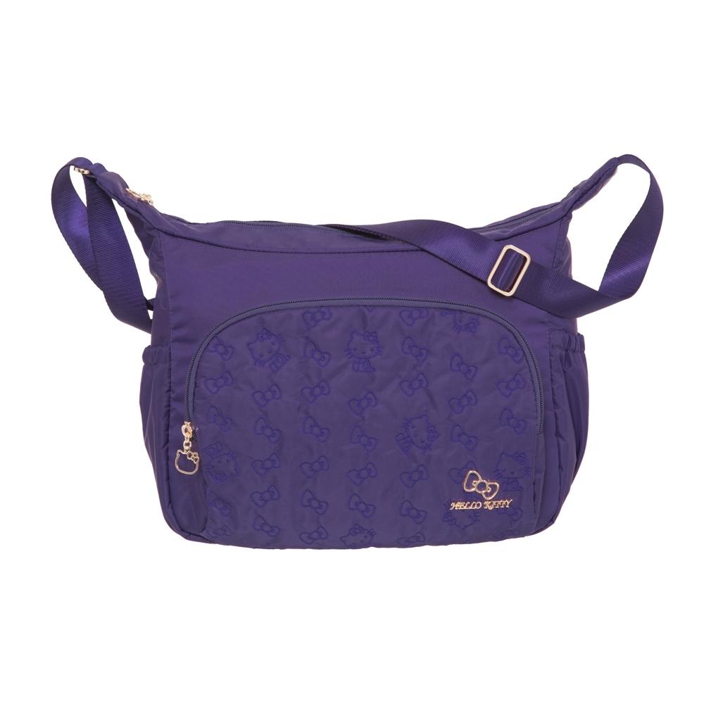 【Hello Kitty】快意之旅-側背包(大)-紫 KT01R06PL