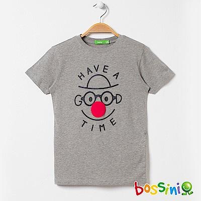 bossini男童-印花短袖T恤11淺灰