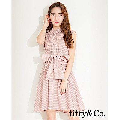 titty&Co.條紋背簍空無袖洋裝(3色)