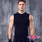 運動背心 活力型男 彈性貼身運動上衣(黑M~XL)AngelHoney天使霓裳