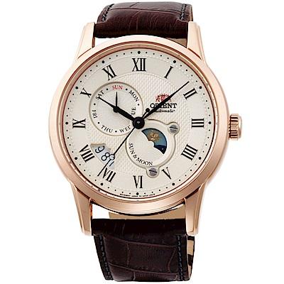 ORIENT東方錶SUN&MOON系列日月相腕錶(SAK00001Y)