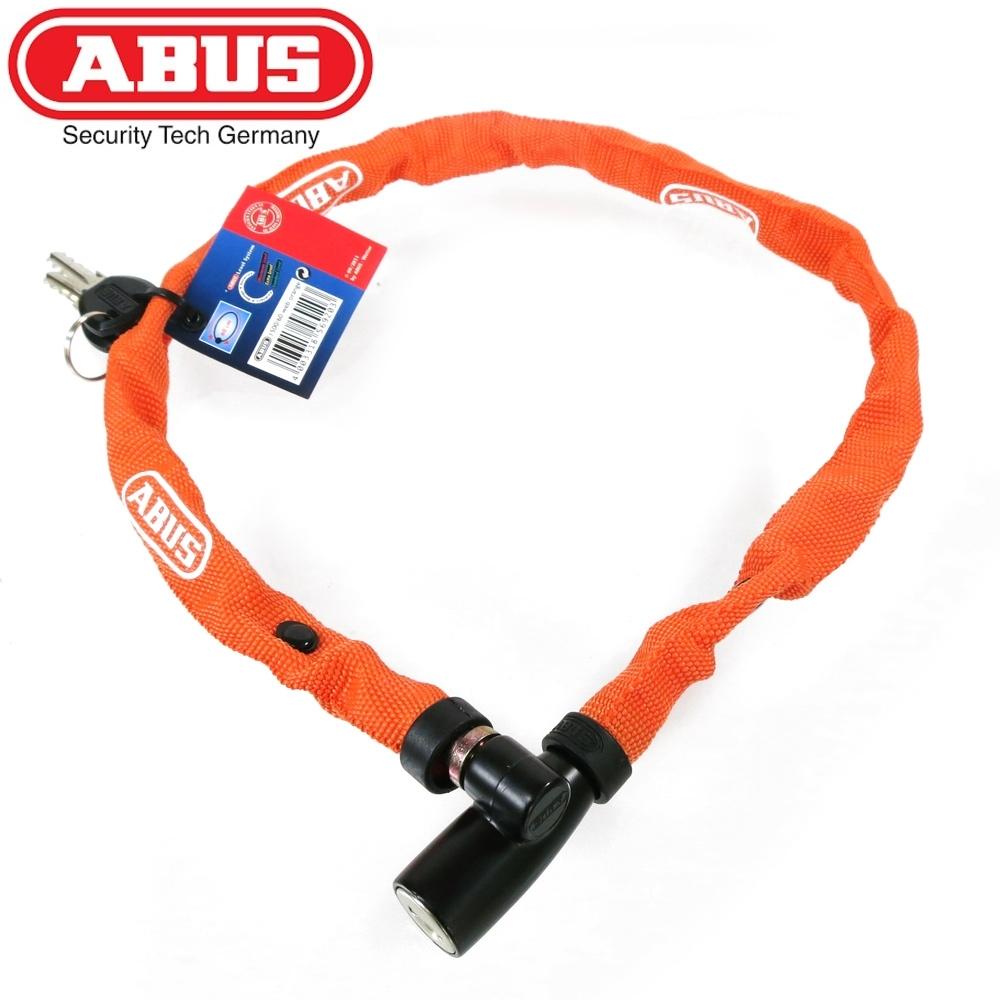 ABUS 德國防盜鎖 1500 web Key Chain 60cm單車鑰匙鎖-橘