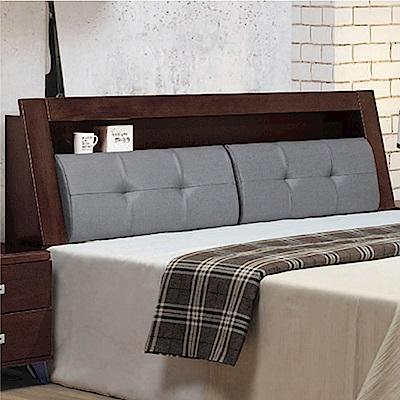 文創集 瑞克6尺雙人加大床頭箱(二色+不含床底)-182.5x29x101cm免組