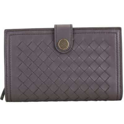 BOTTEGA VENETA 納帕羊皮編織皮夾(紫灰色)