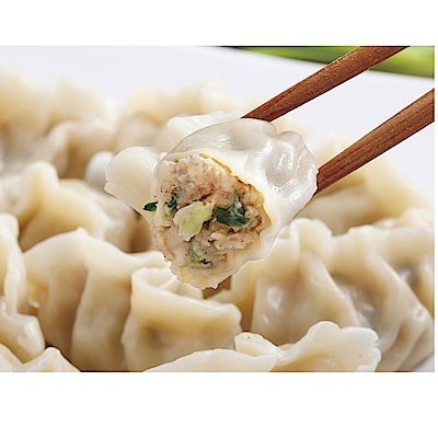 禎祥食品 手工捏花蔥肉水餃(約40粒/包,共四包)