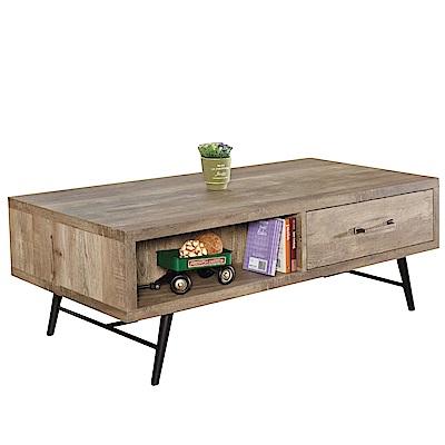 品家居 維凱希4尺木紋單抽大茶几-120x60x43cm免組