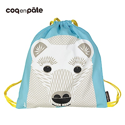 【COQENPATE】法國有機棉無毒環保布包 - 童趣輕鬆包- 北極熊