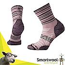 美國 SmartWool 美麗諾羊毛 女 輕量避震印花中筒襪(2入)_木玫粉