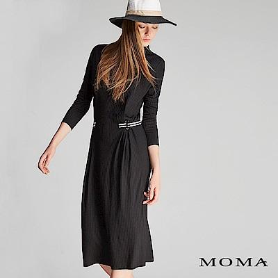 限時商品 | MOMA 簡約織帶小高領洋裝_2色