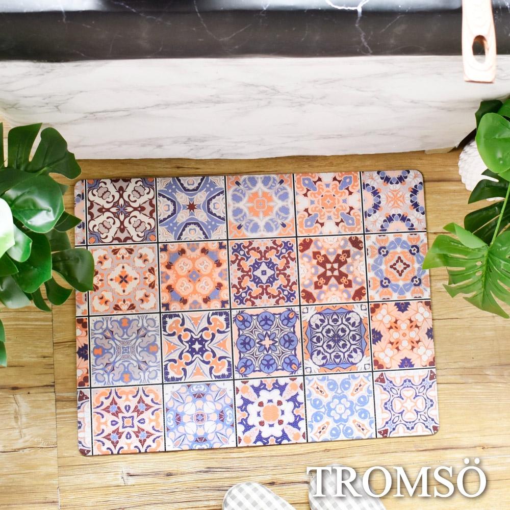 TROMSO 廚房防油短皮革地墊-K526S西班牙花磚(小)