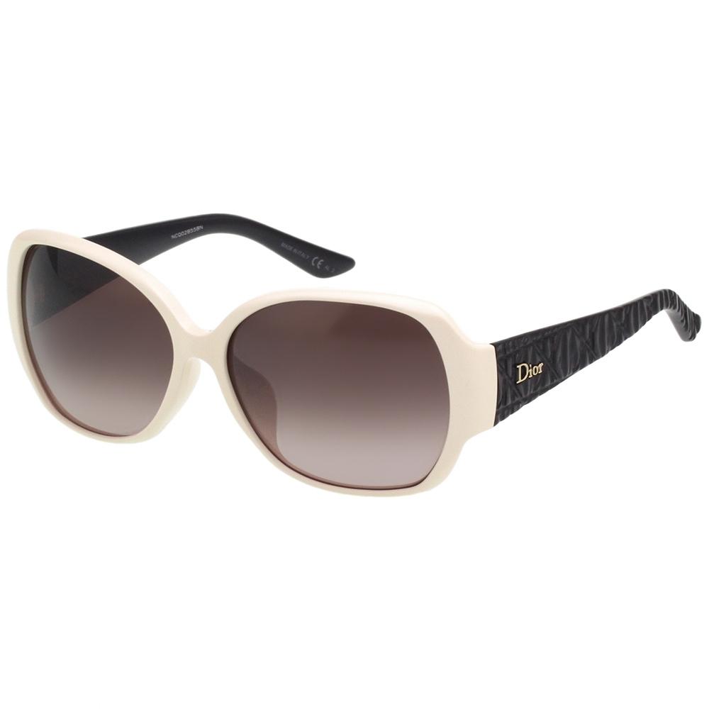 Dior 經典菱格紋 太陽眼鏡(米白色)