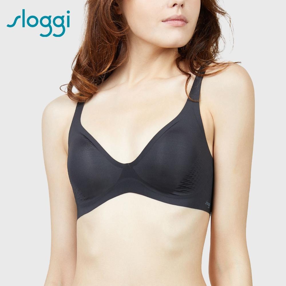 sloggi BODY ADAPT-T-Shirt Bra 體貼適形無鋼圈低V款內衣 S-EEL 純粹黑 11-1807 04