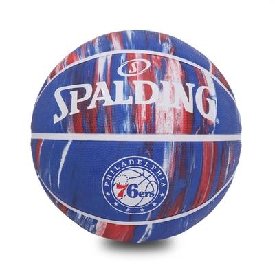 SPALDING  籃球 NBA 76ers Rubber 斯伯丁 7號球 室外 大理石印花 運動休閒 藍 紅 SPA84149
