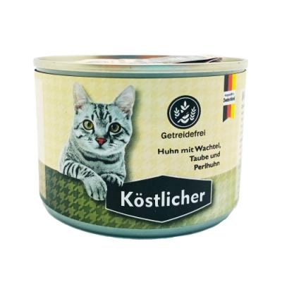 德國Kostlicher可莉司朵主食罐-雞肉+鵪鶉+鴿子+珍珠雞 200G (CKL-C05)