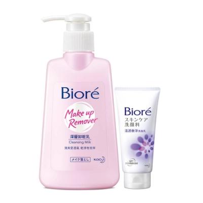 [時時樂限定!買1送1]Biore 蜜妮 深層卸妝乳(180ml) 加碼送清透極淨洗面乳15g