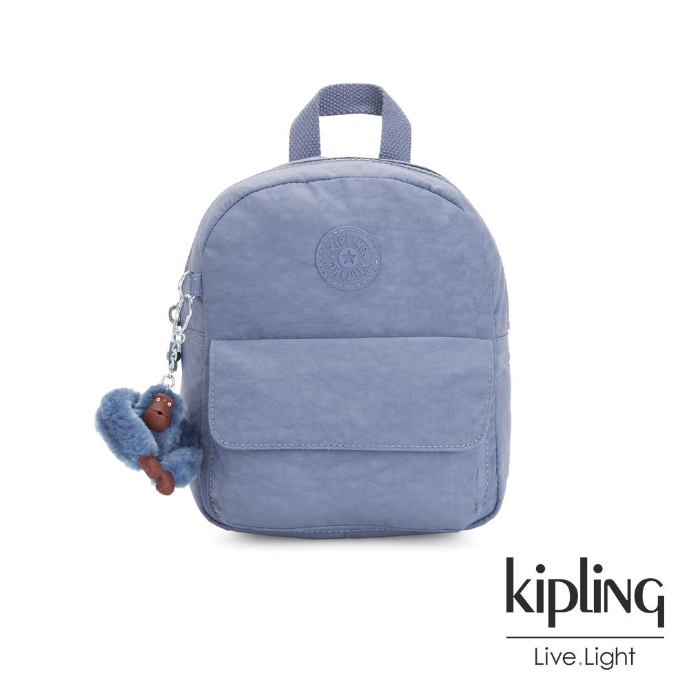 Kipling 氣質粉嫩藍迷你後背包-ROSALIND