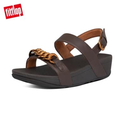 FitFlop LOTTIE CHAIN BACK-STRAP SANDALS 復古鎖鏈後帶涼鞋-女(巧克力棕)