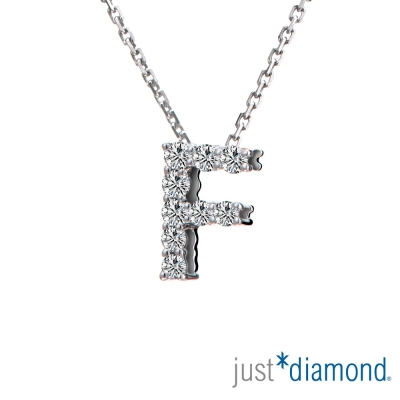 Just Diamond Love Words系列18K金鑽石墜子-F