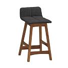 Bernice-羅朗布面工業風吧台椅/高腳椅/單椅(低)-39x41.5x76cm