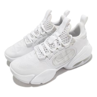 Nike 訓練鞋 Alpha Savage 2 運動 男鞋 襪套 氣墊 舒適 避震 包覆 健身房 全白 CK9408100