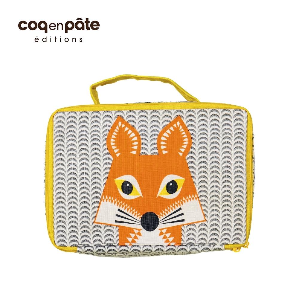 【COQENPATE】法國有機棉布包-方方兒拎出門- 狐狸