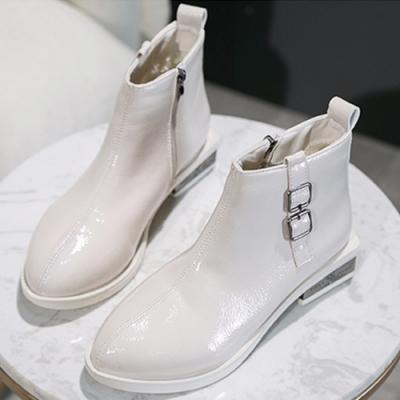 KEITH-WILL時尚鞋館-追加涼涼夏日蕾絲素色中筒靴-白色