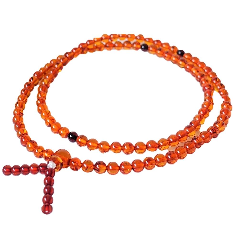 Alamode天然蜂蜜色108念珠 可繞手3-4圈