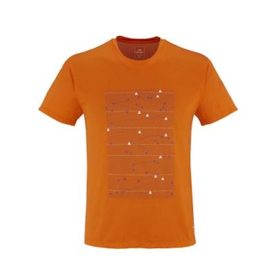 法國【EiDER】 男排汗透氣抗UV短袖圓領衫 / 6EIV3540-橘