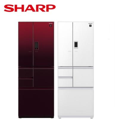 SHARP 夏普 日製六門502L一級能變頻觸控鏡面對開冰箱 SJ-GX50ET-免費基本安裝+舊機回收