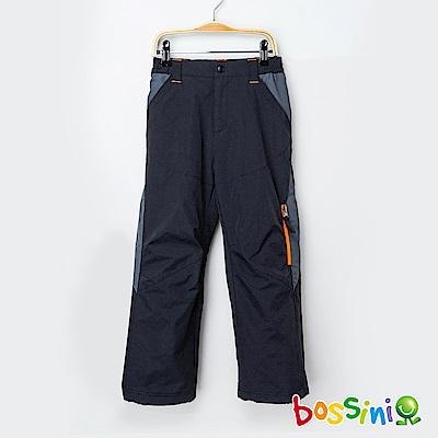 bossini男童-(網路款)多功能防風雪褲黑