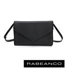 RABEANCO 迷時尚系列牛皮兩用信封包 黑